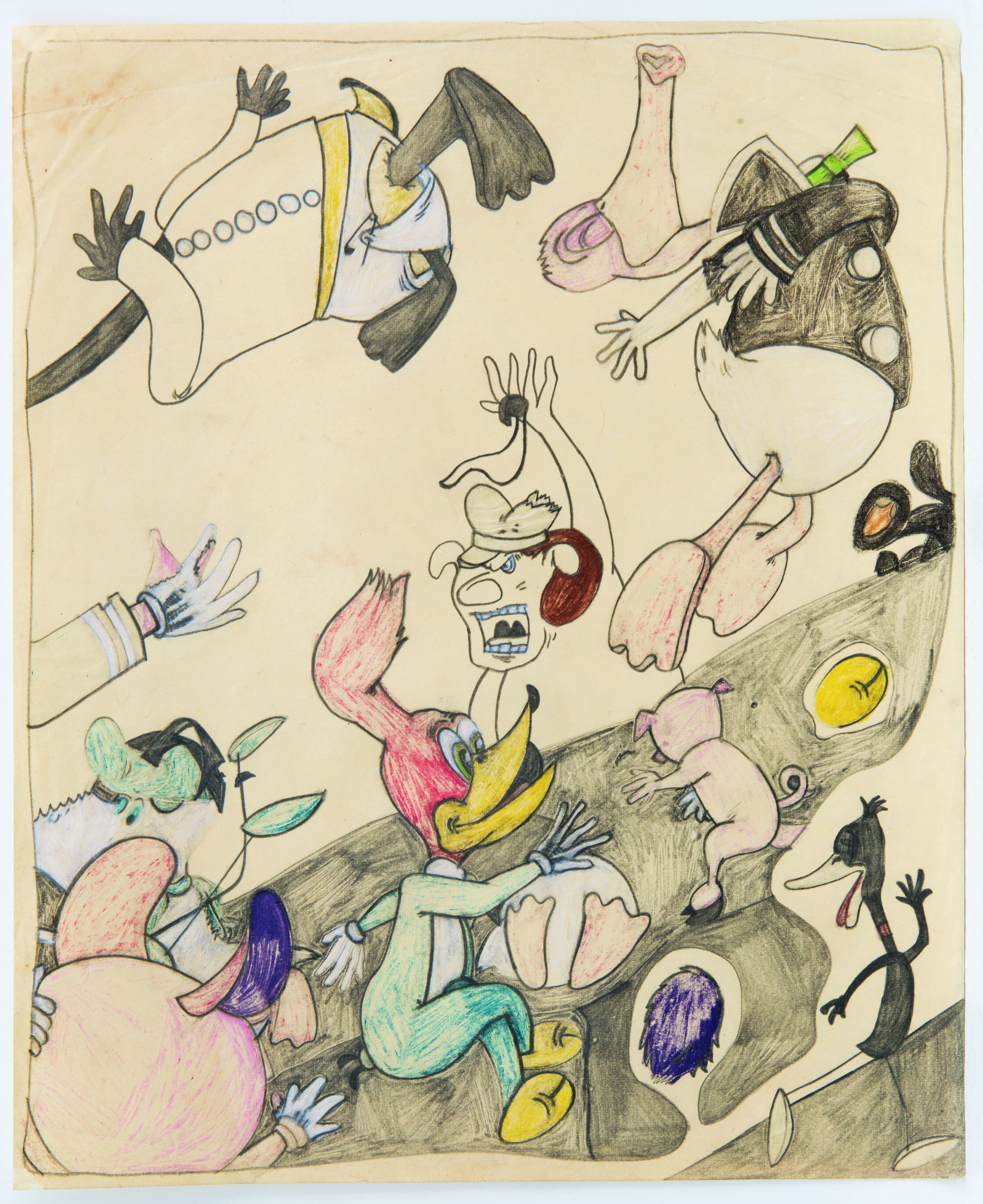 Susan Te Kahurangi King (New Zealand, b. 1951). Untitled, c. 1965. Graphite and colored pencil on paper, 11x9 in. (27.9x22.9 cm), A30806. Collection of KAWS, courtesy of the artist, Chris Byrne and Andrew Edlin Gallery