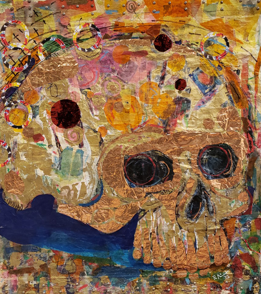 Collage skull by E. Nix