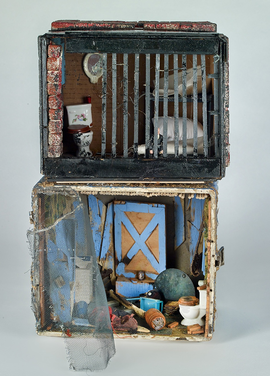 Marvin Tate (American, b. 1959).  J.T.'s Place , 2010. Found objects, 19 x 11 ½ x 14 in. Courtesy of the artist. Photo © John Faier