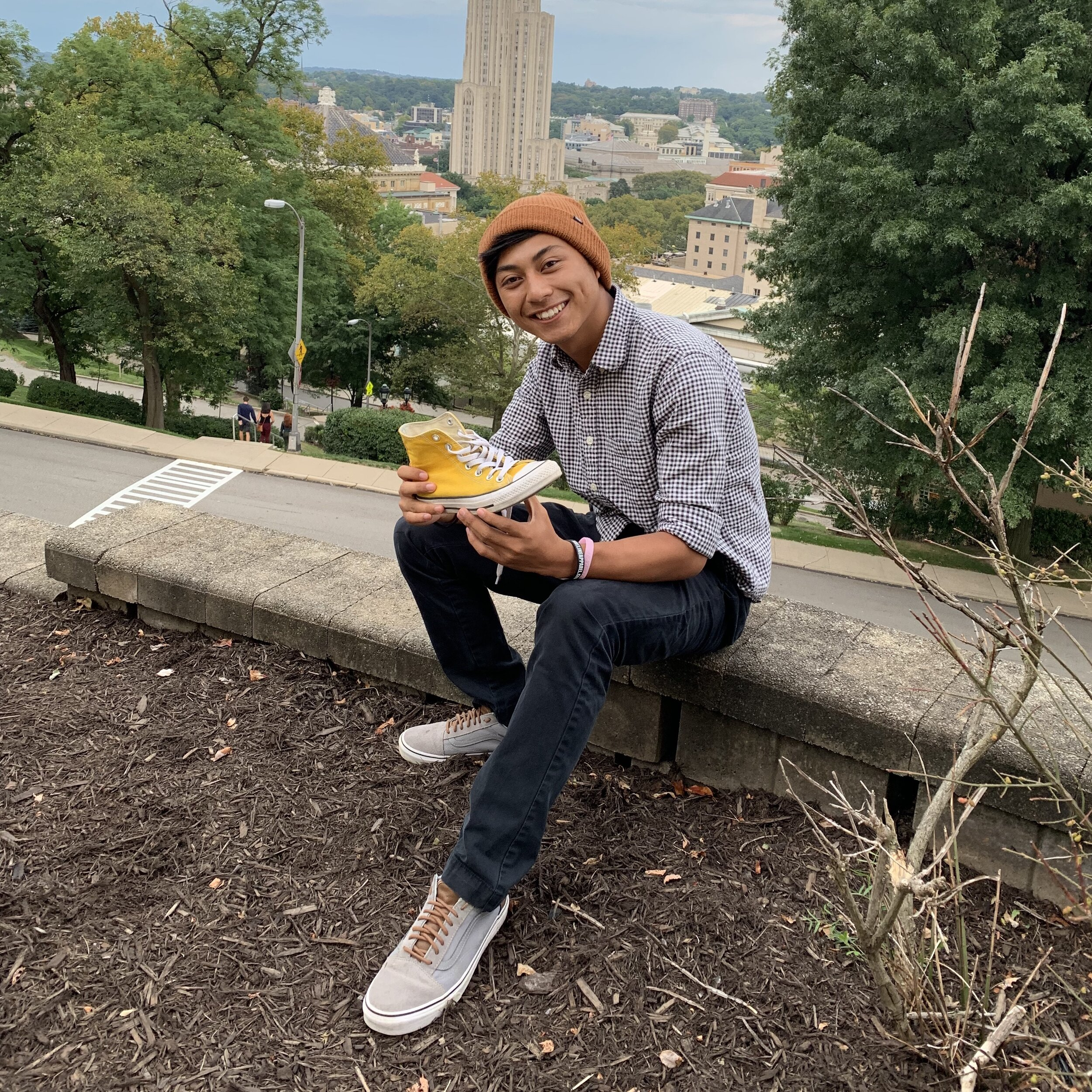 """Justin    Pronouns:  He/Him/His   Academic Year:  Freshman   Major:  Computer Engineer   Hometown:  California   Cultural Identity:  Filipino  """"Video games, music, and travelling"""""""