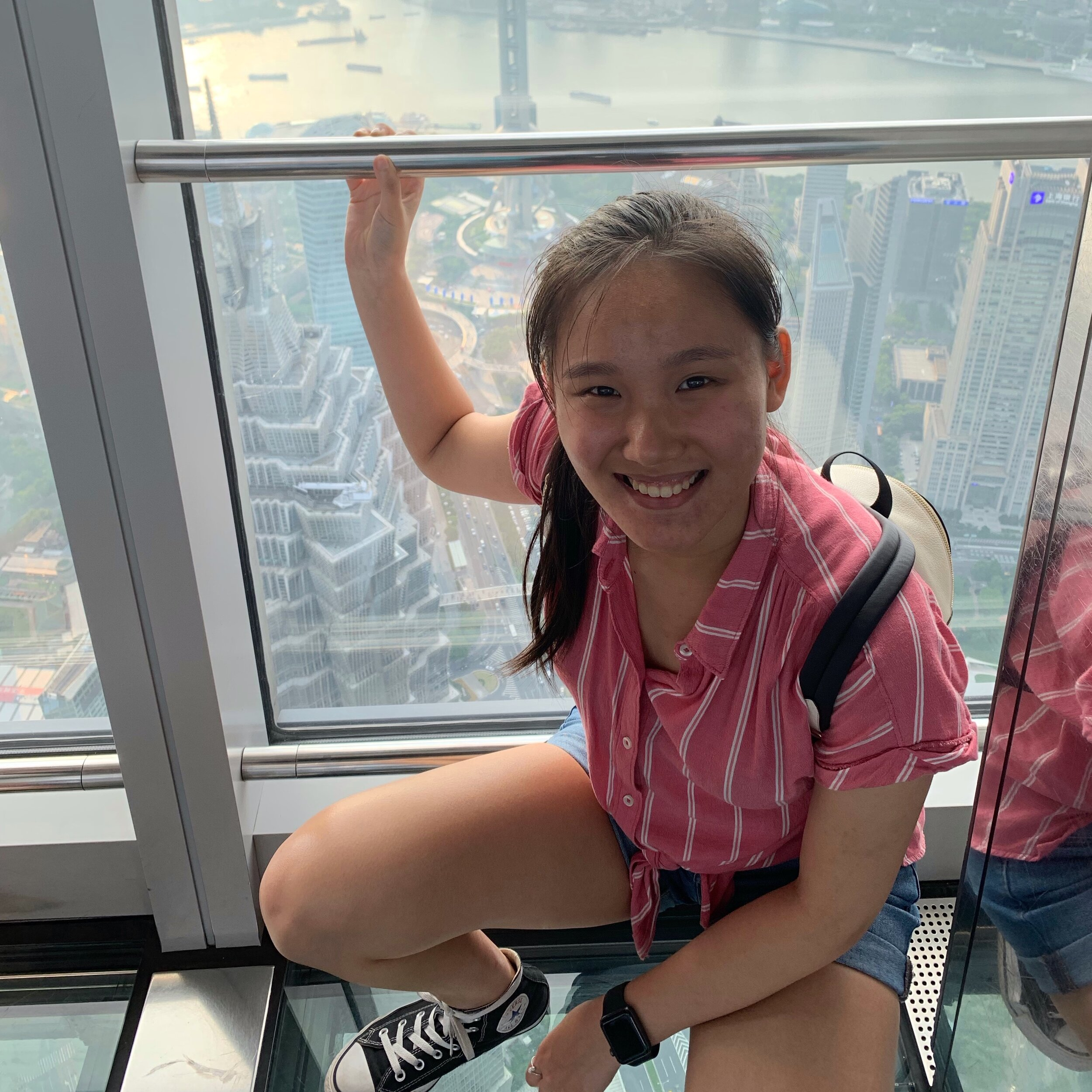 """Maggie Yang    Pronouns:  She/Her/Hers   Academic Year:  Freshman   Major:  Neuroscience on the Pre-Med Track   Hometown:  Boston, MA   Cultural Identity:  Chinese American  """"I love exploring the city and traveling to new places, or just chilling in bed and watching tv shows."""""""