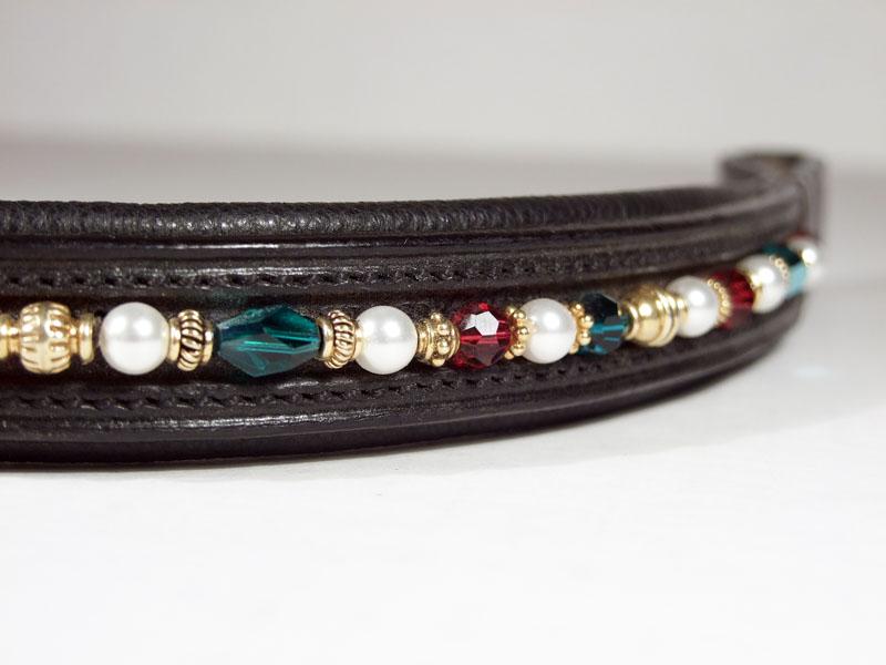 Tudor Emerald, Ruby & Pearl Close Up