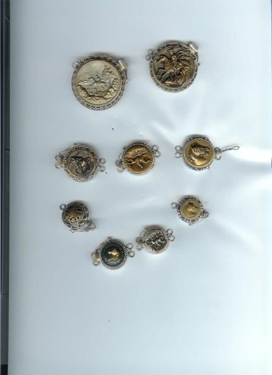 Assorted Vintage Button Clasps