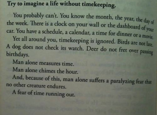 a life without timekeeping