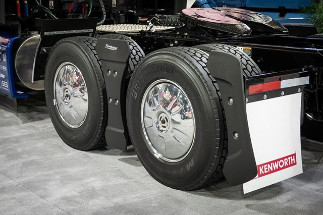 Fuel efficiency and shine with chrome wheel covers! #TractorAeroKit