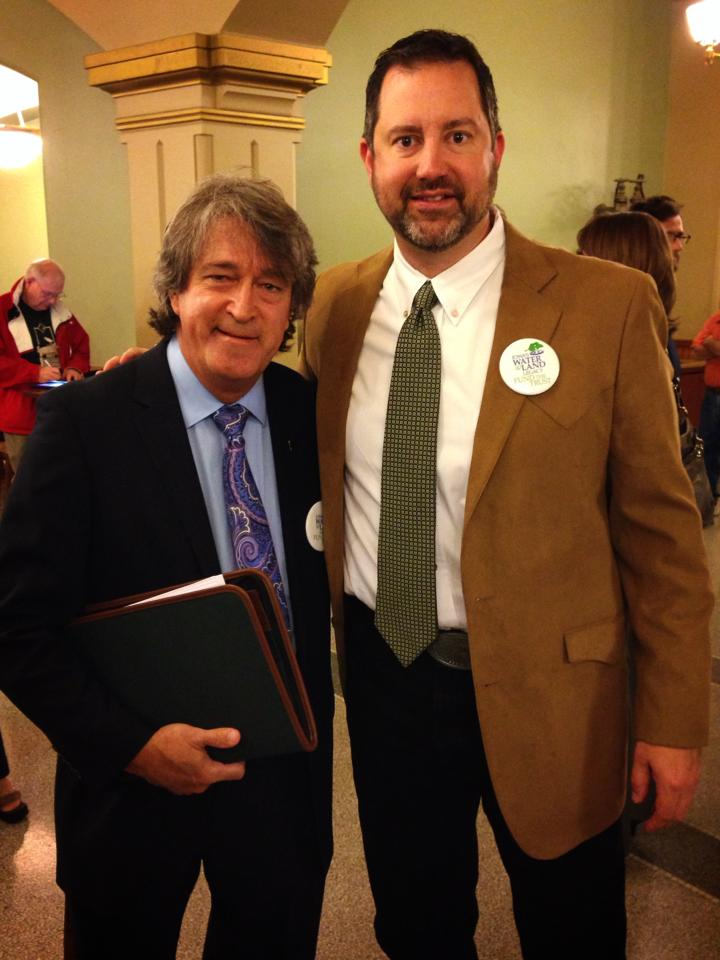 lobbying at capitol for clean water with Tom Hazelton of Iowa's Conservation Boards.jpg