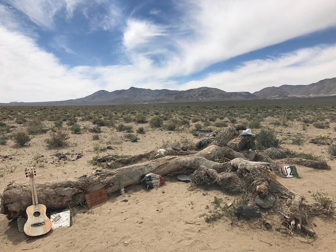 One highlight of this experience already was making the trek to the area outside of Death Valley where the actual Joshua Tree (from the album photos) is located. It has fallen (and has become a fan shrine of sorts), but the symbolism could still be felt out there in the middle of the desert.