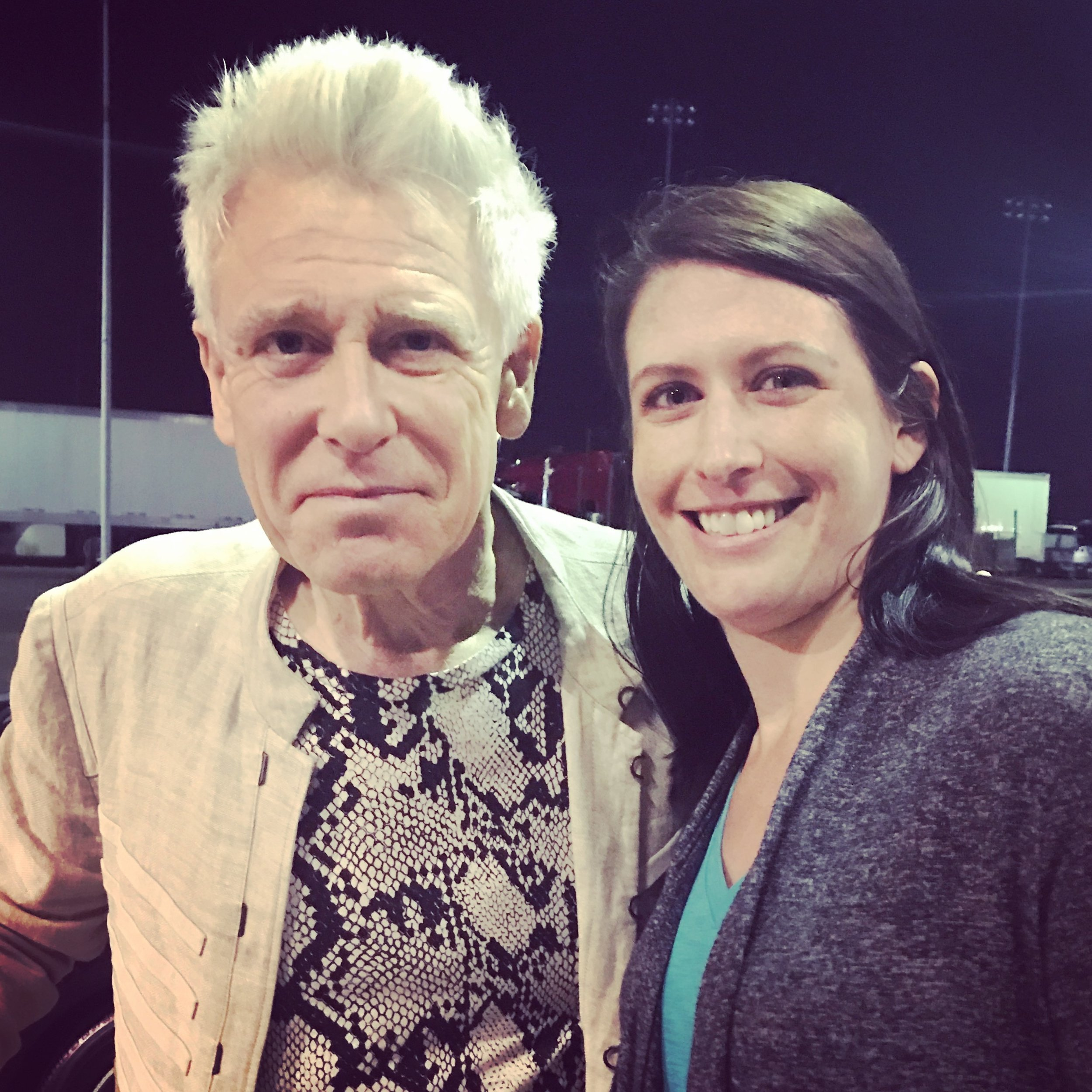 With Adam Clayton in New Jersey, June 2017