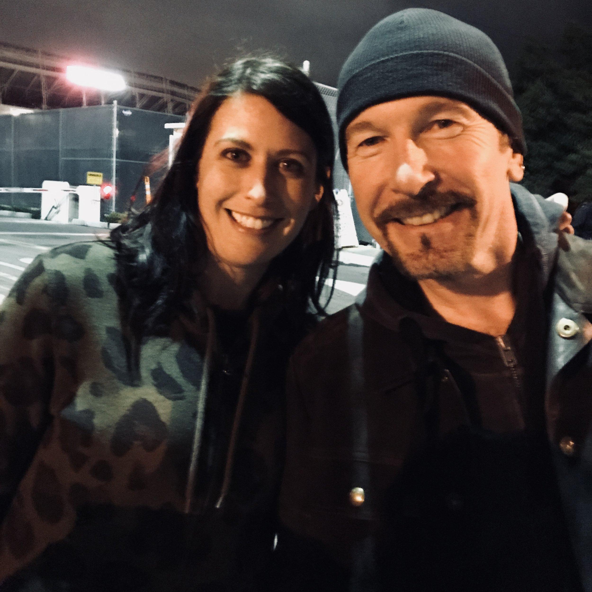 With Edge May 16, 2018 in Santa Clara, CA. Photo Credit: David Barry