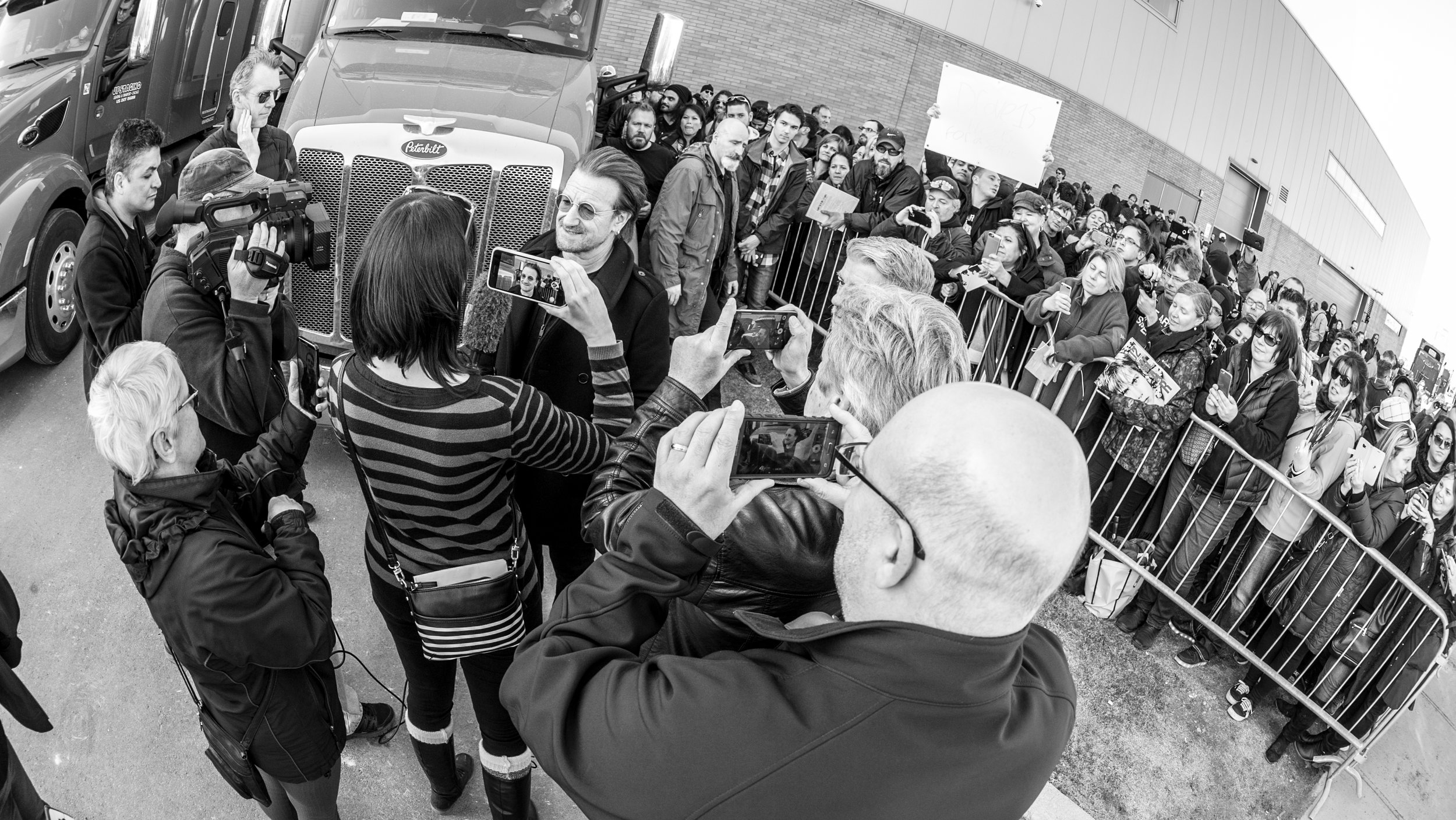 Interviewing Bono for Dream Out Loud April 21, 2018 in Laval, QC. Photo Credit: Martin Alarie