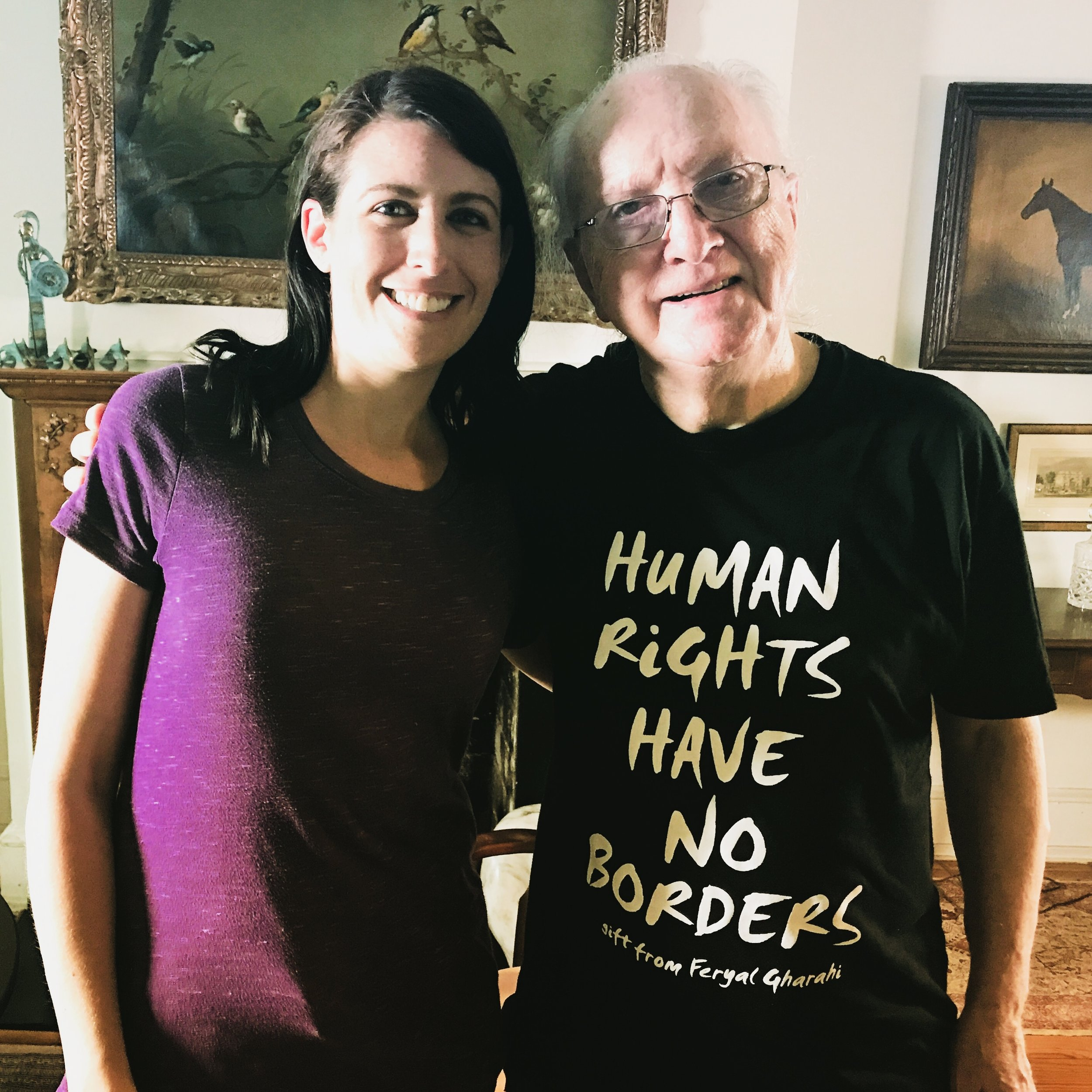 """With Jack Healey, """"Mr. Human Rights"""" June 19, 2017 in Washington, D.C. Photo Credit: David Barry"""