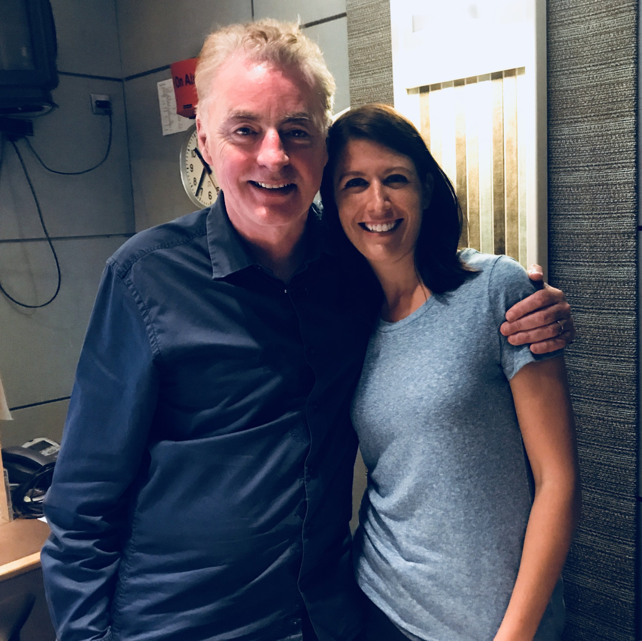 With Dave Fanning, the first DJ to play U2 on the radio July 17, 2017 in Dublin, Ireland. Photo Credit: David Barry