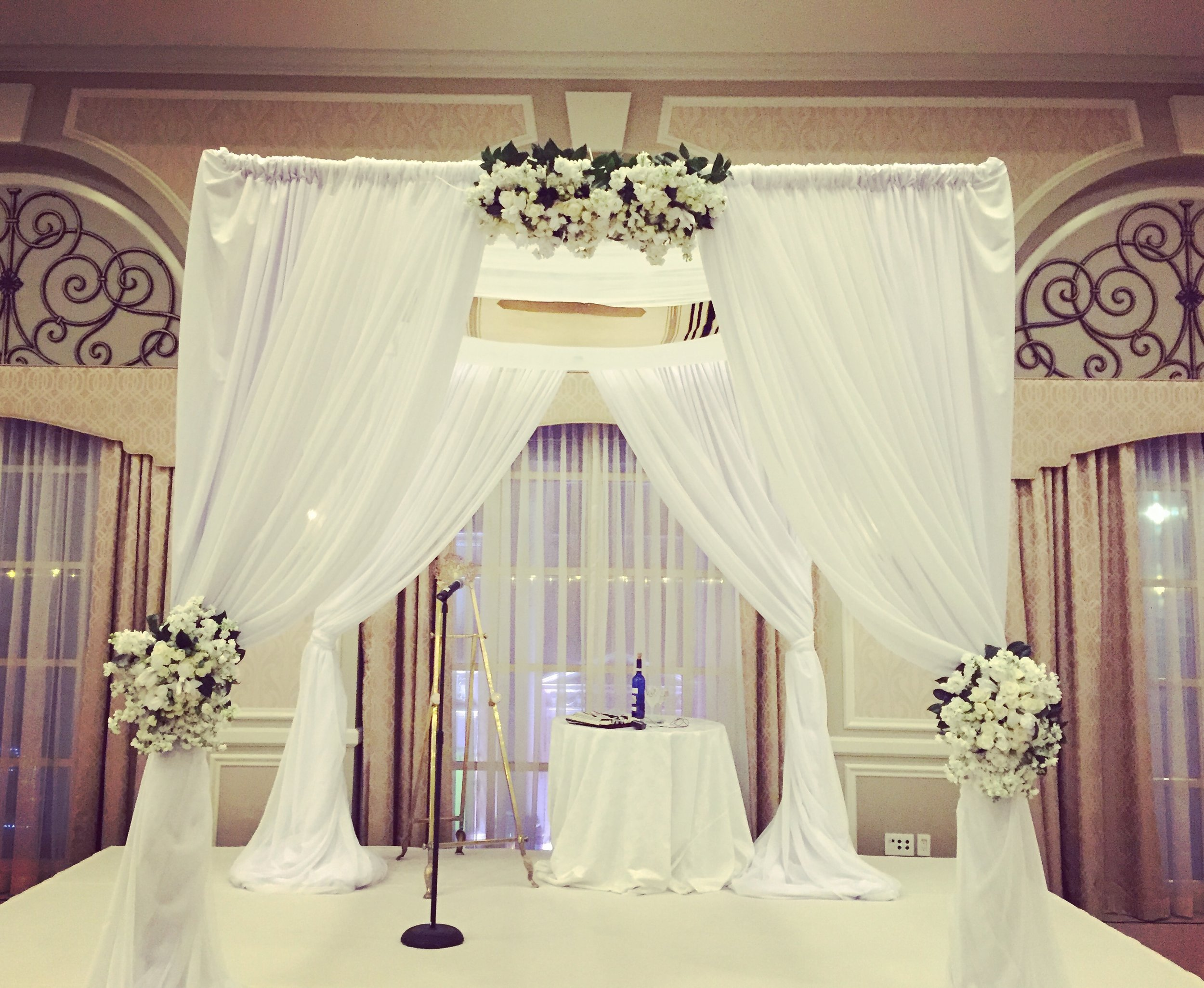 Winter wedding at the adolphus hotel in dallas, texas on december 17, 2016. Chuppah floral designed by designer, m. Rose