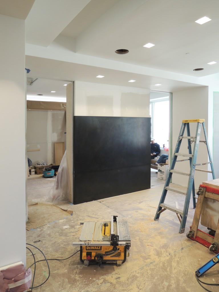 Living Room - Framing for master bedroom beginning (beyond)