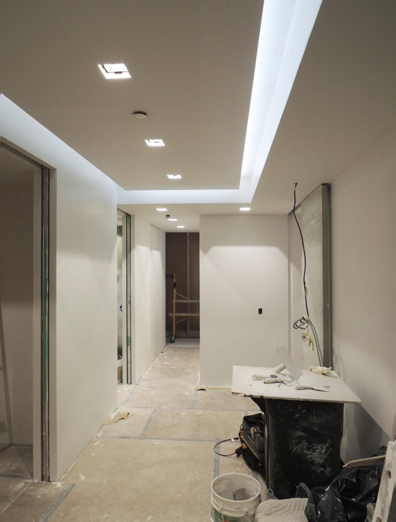 Hallway  -  Accent lighting in ceiling