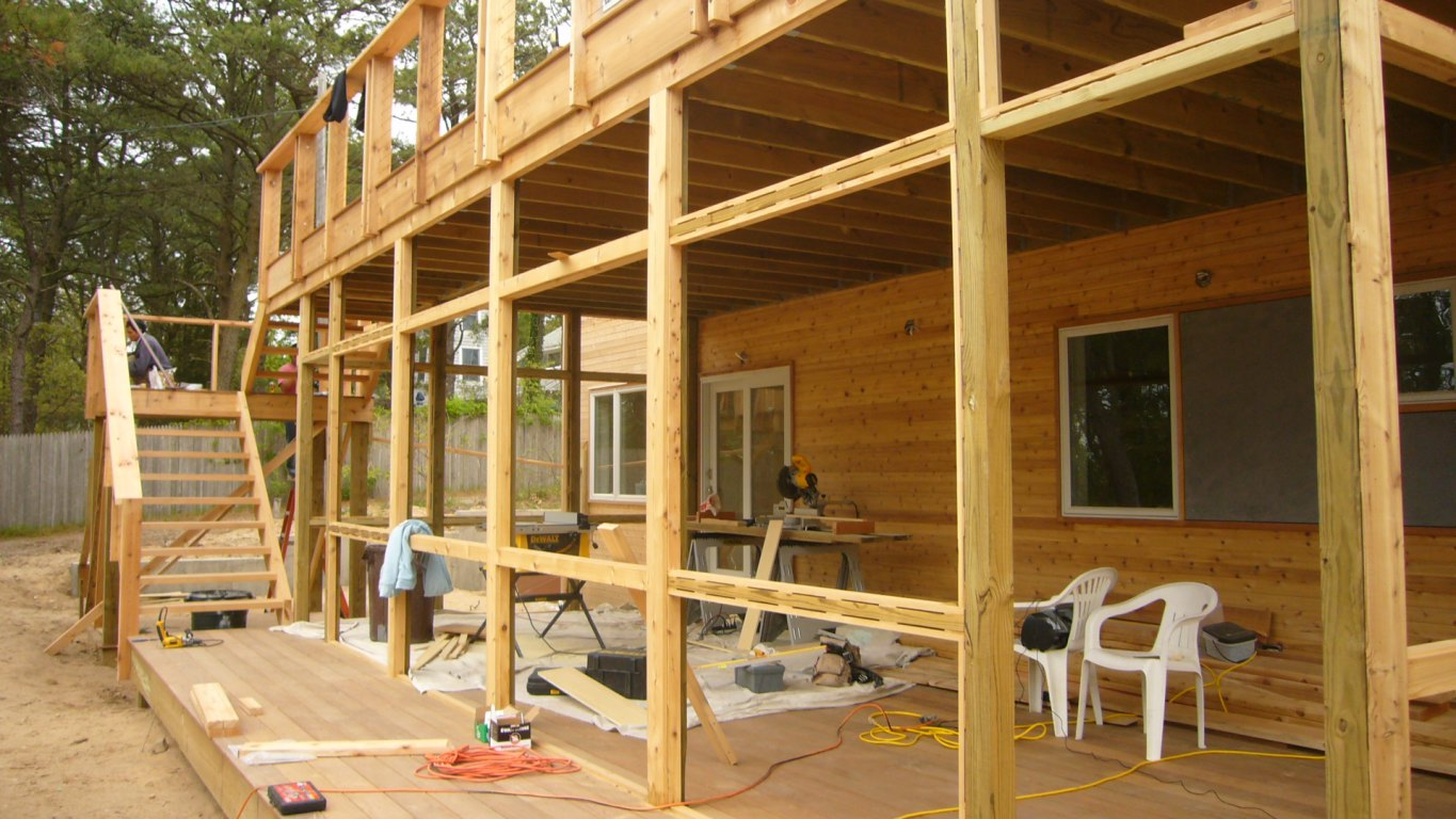 Construction of outdoor porch