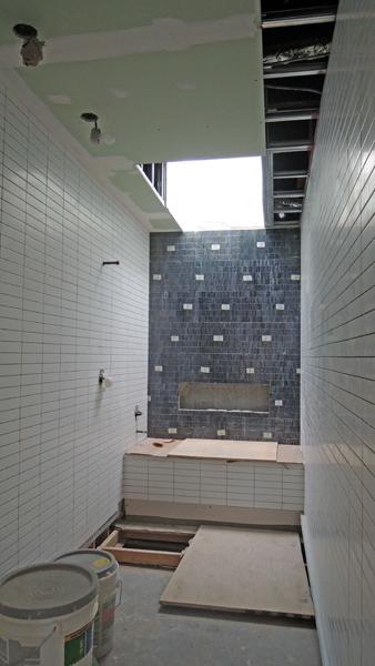 Bathroom tile & skylight