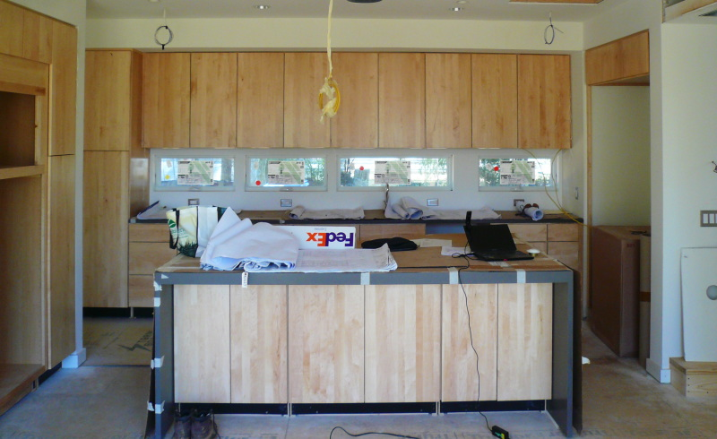 Kitchen area under construction