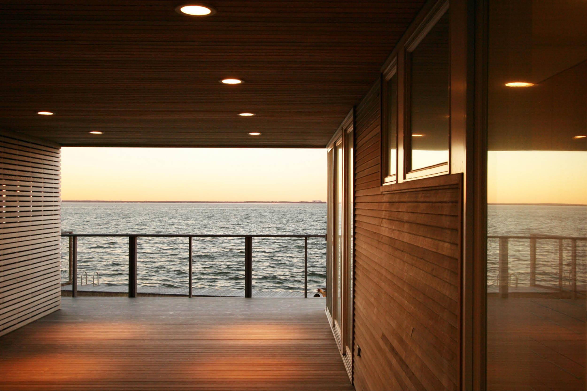 Modern Modular Prefab House | Cedar siding Ceiling Ipe Deck Beach Cable Rail | Fire Island New York | RES4