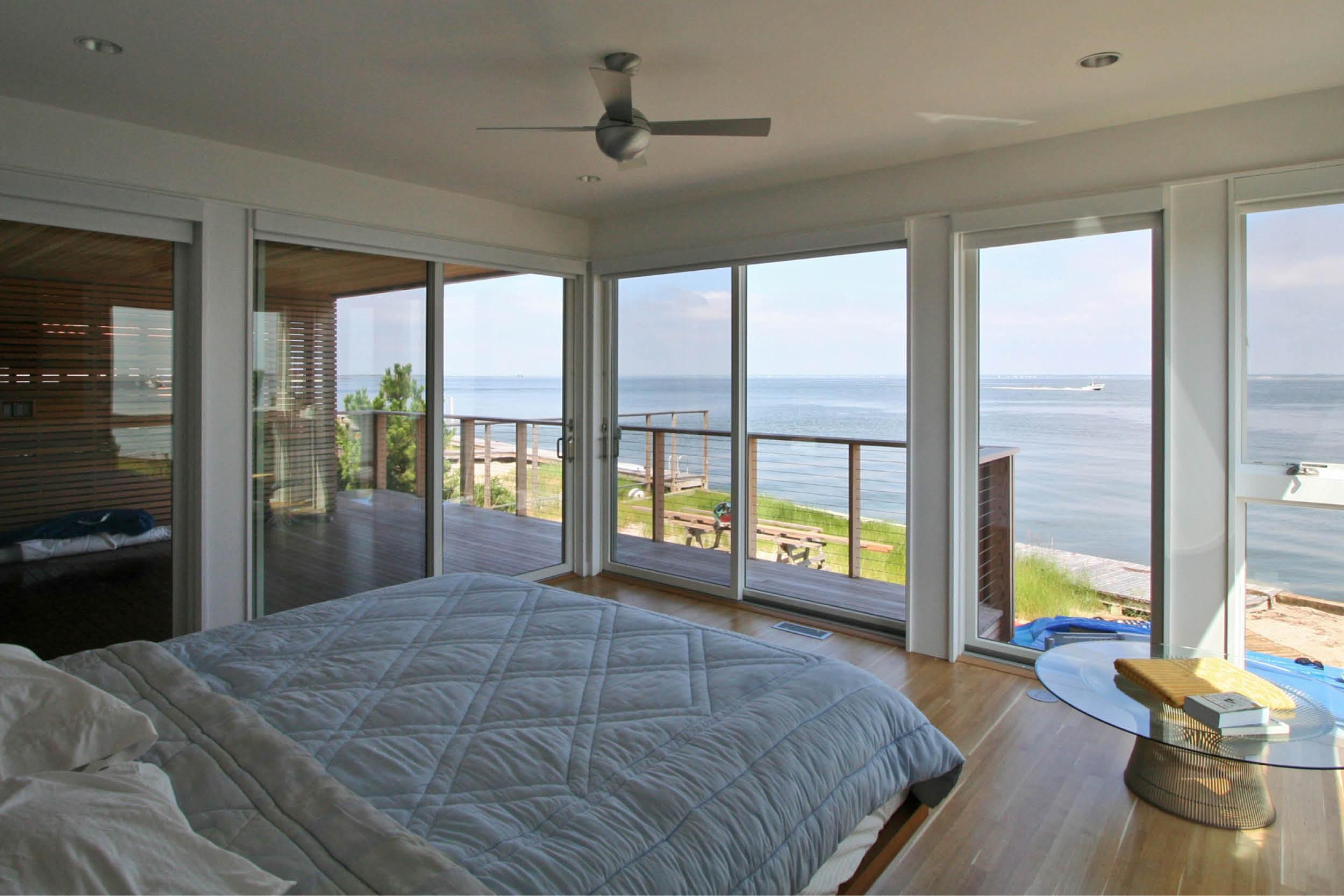 Modern Modular Prefab House | Bedroom Sliding Doors | Fire Island New York | RES4
