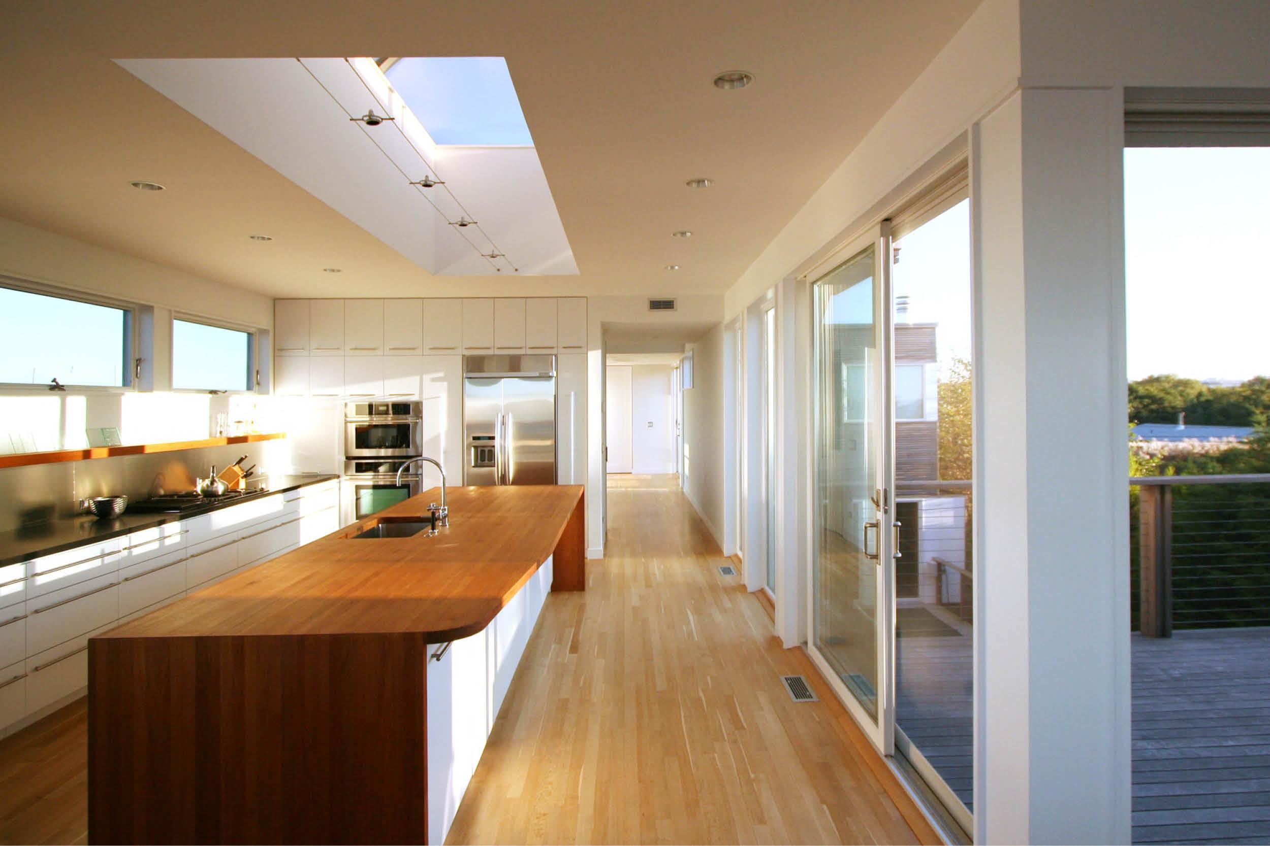 Modern Modular Prefab House | Kitchen Island Custom Cabinets Skylight | Fire Island New York | RES4