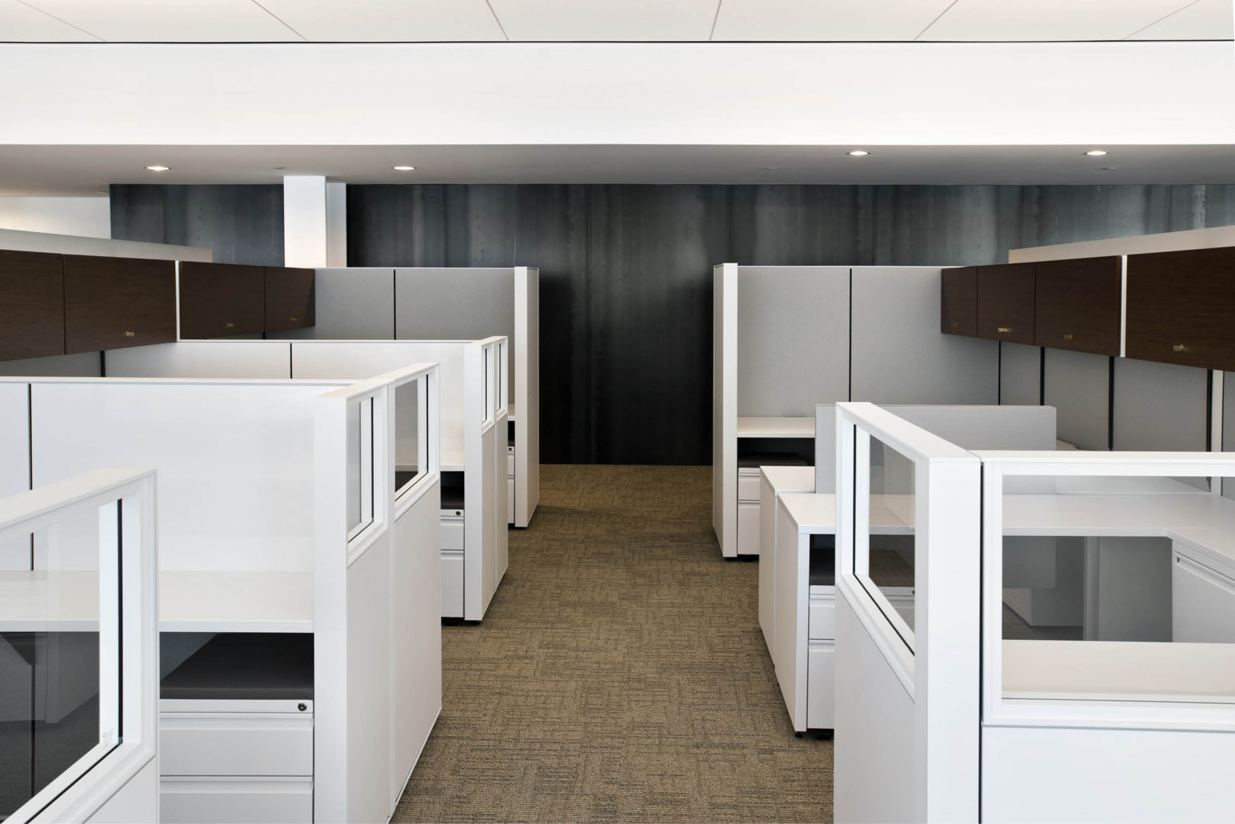 Modern Commercial Office | Open Office White Workstations | RES4