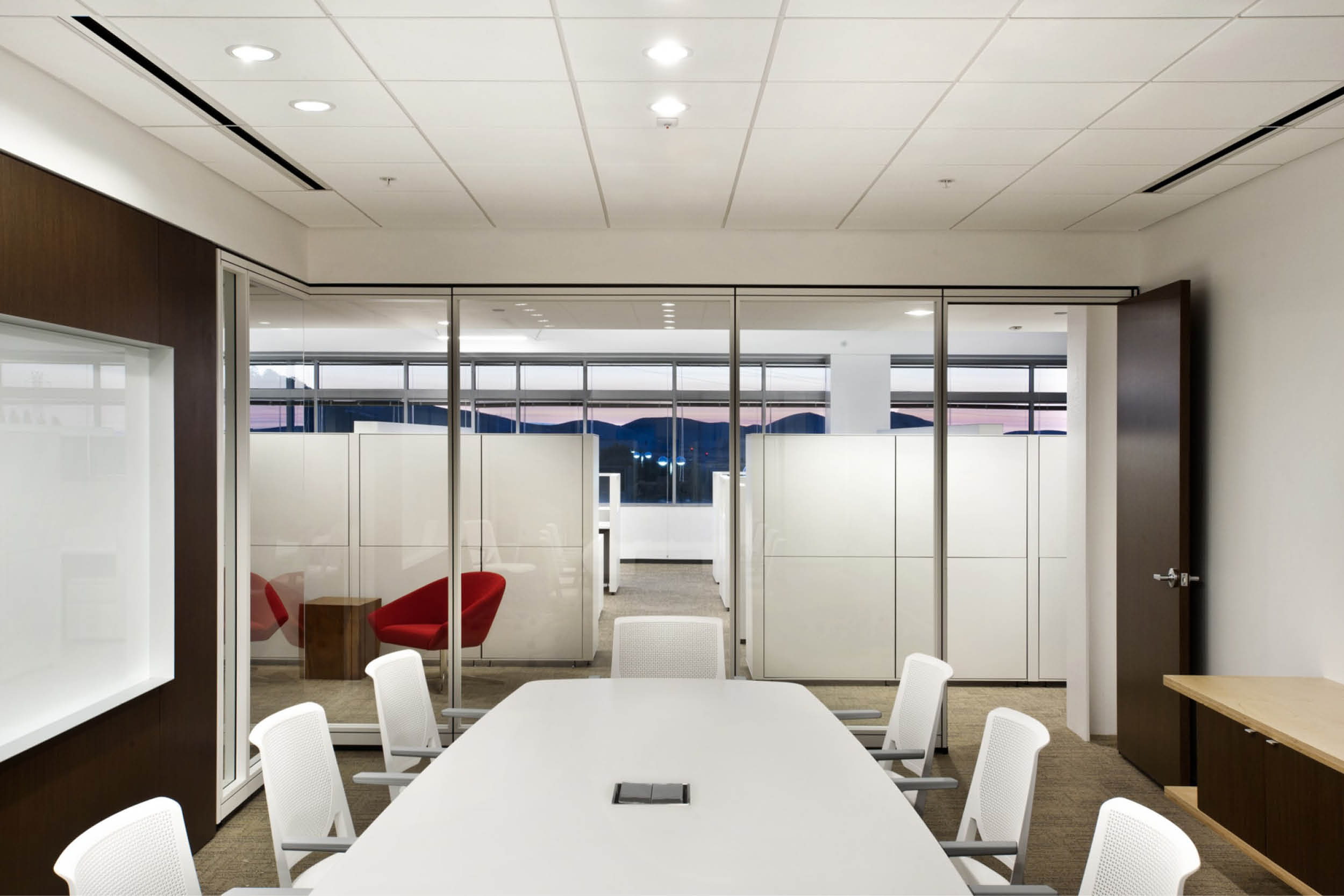 Modern Commercial Office | Large Conference Room Table | RES4
