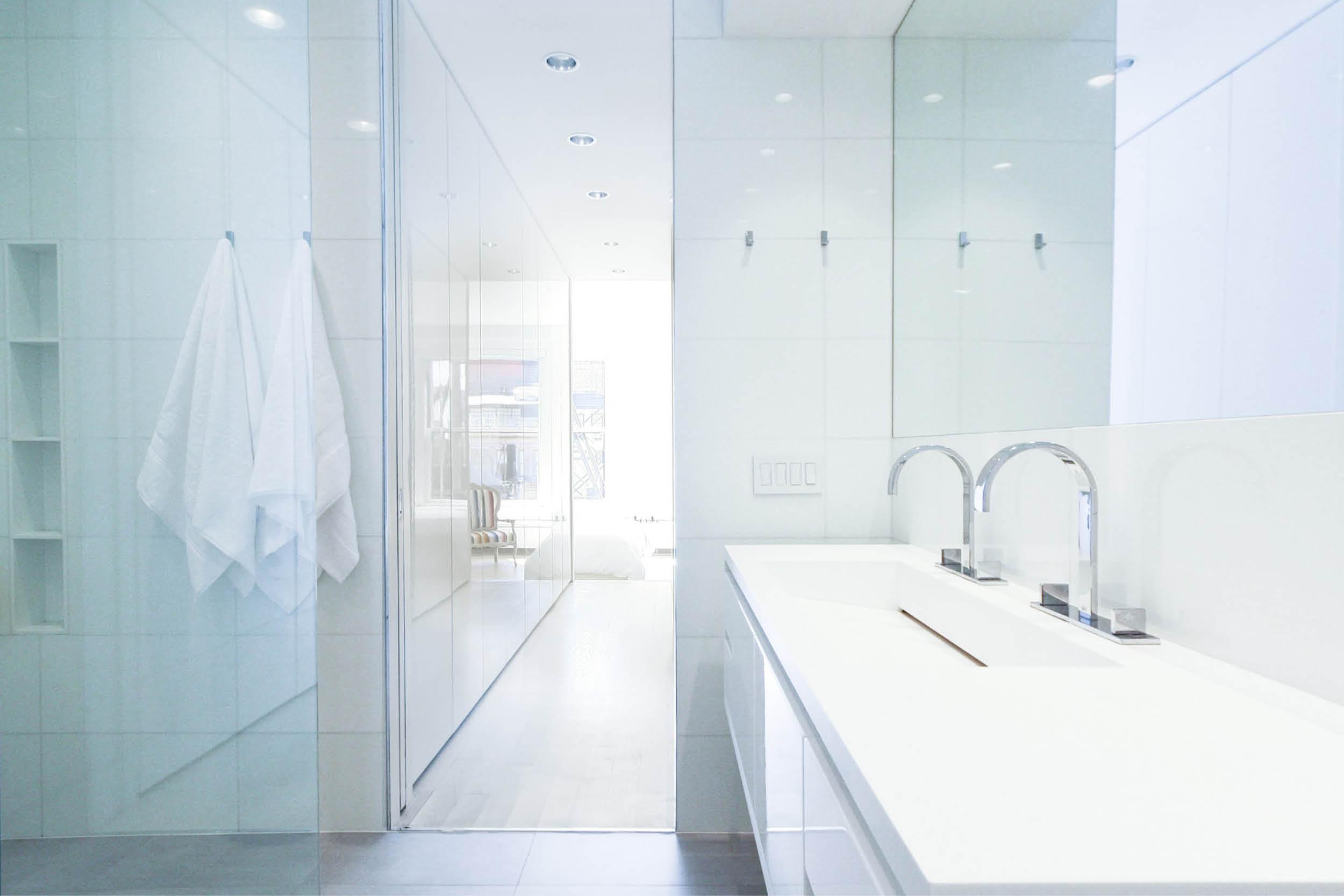 Modern New York City Union Square Loft Renovation | White Master Bath Custom | RES4