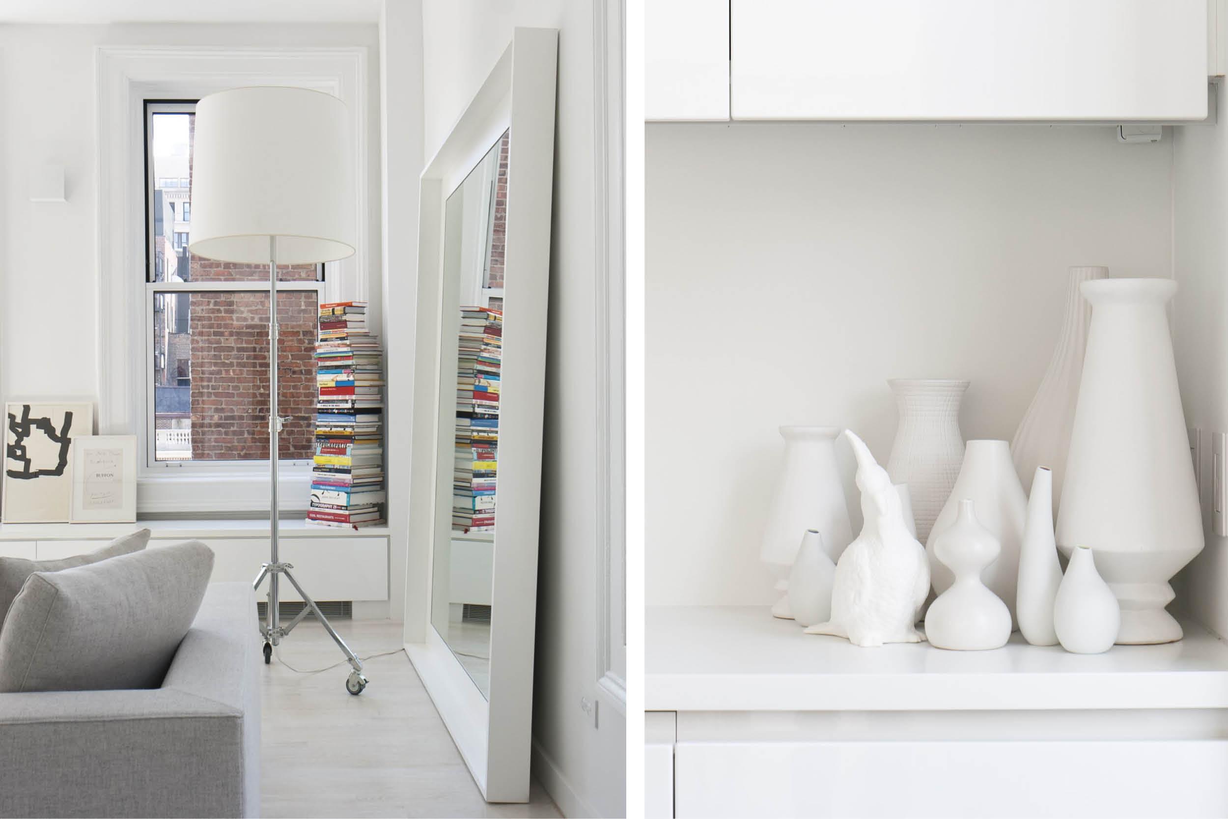 Modern New York City Union Square Loft Renovation | White Living Decor| RES4