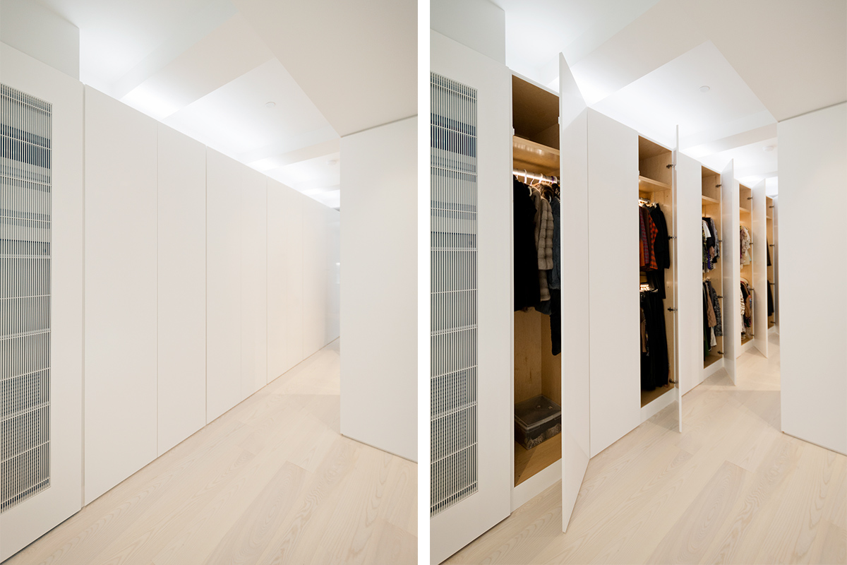Modern New York City Lenox Hill Apartment Renovation | Built in Storage Closets | RES4