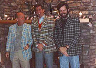 "A lighter moment in the early days of ClarkPowell... Apparently it was ""Plaid day""."
