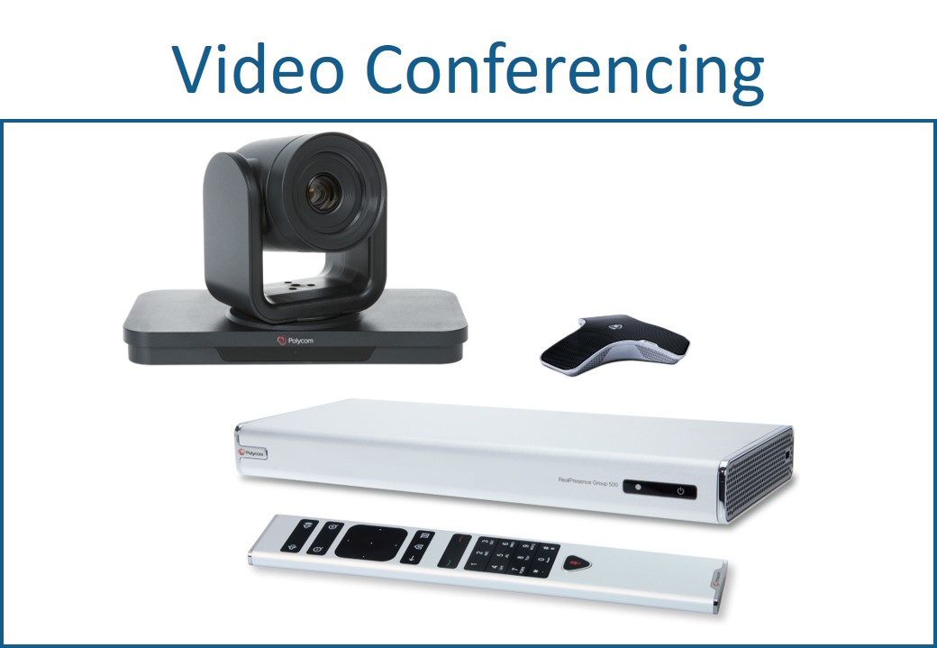 Video conferencing equipment for AV systems