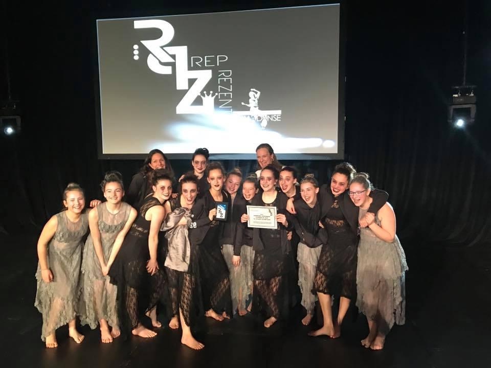 2e Prix Troupe Élite en contemporainet mention des juges à Reprezent Laval - Le 7 avril 2018