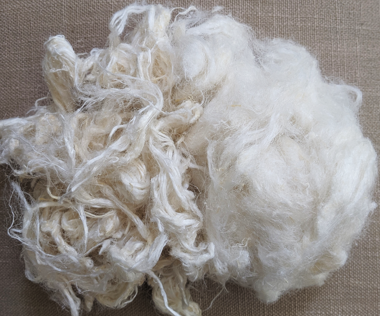 Base fiber; cut; natural color; some opened