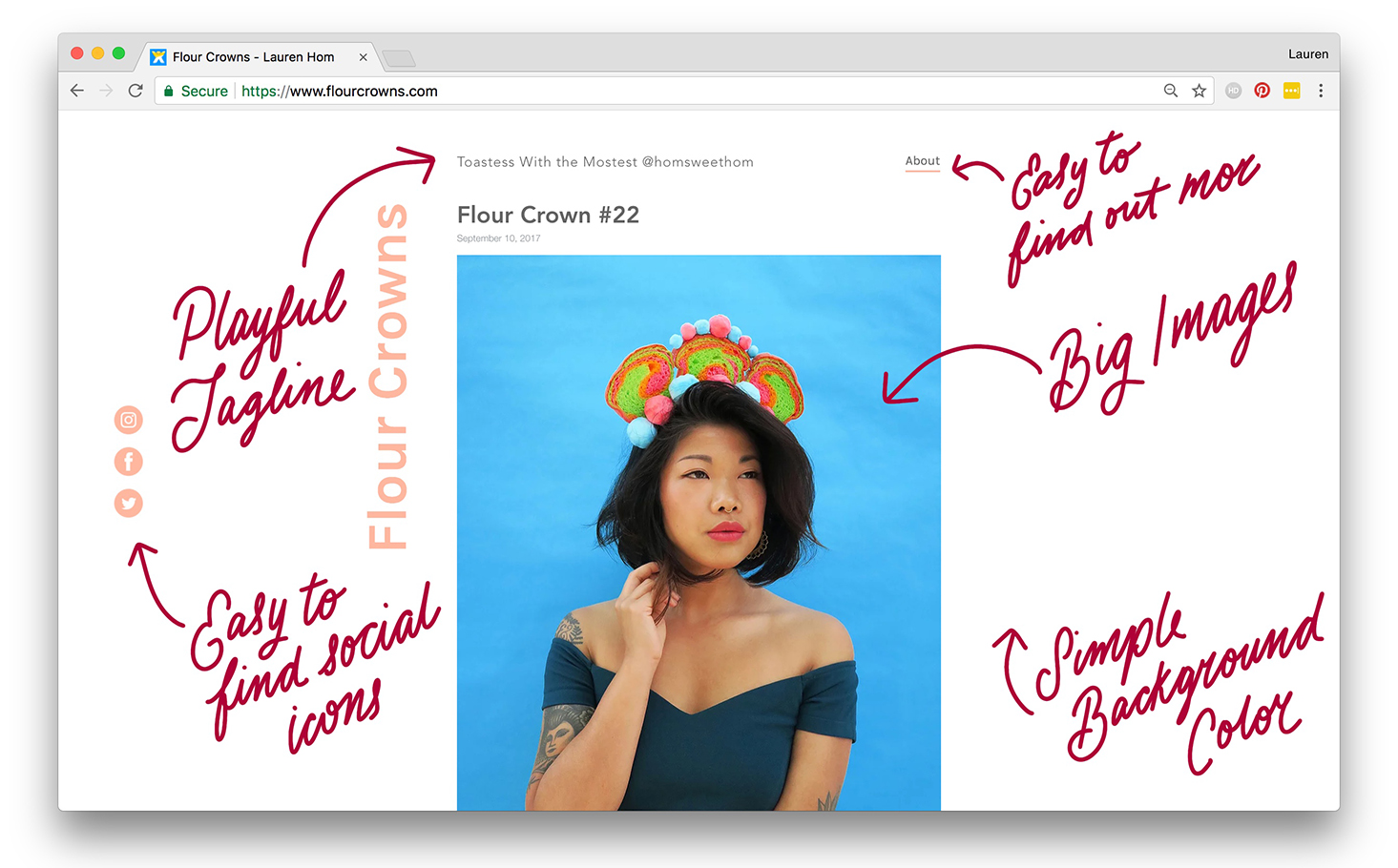 My Flour Crowns passion project website, designed with Wix. Check it out    here   !