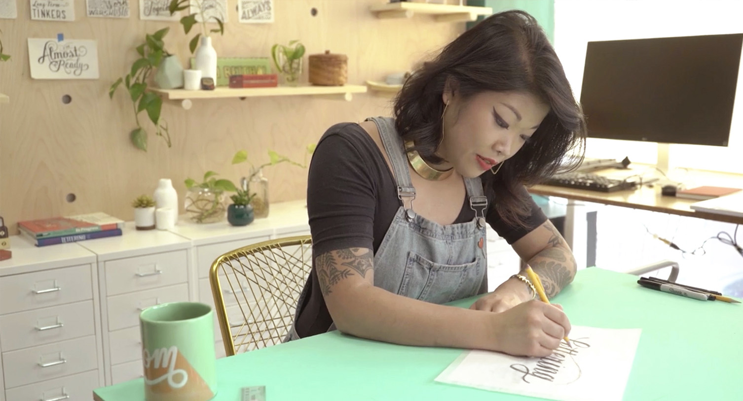 LEARN LETTERING WITH ME ONLINE! - The Art of Lovely & Legible Lettering is my online lettering course for beginners. This class is like pulling up a virtual seat next to me in my studio for an entire day!