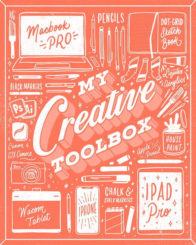 week 5 - Sneak peek into my lettering tool box!