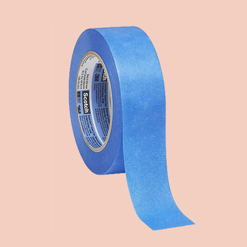 Blue painters tape for clean lines -