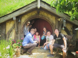 Enjoying a visit to Hobbiton