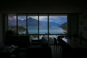 The view from our Top of the Lake accommodations in Queenstown (the South Island).