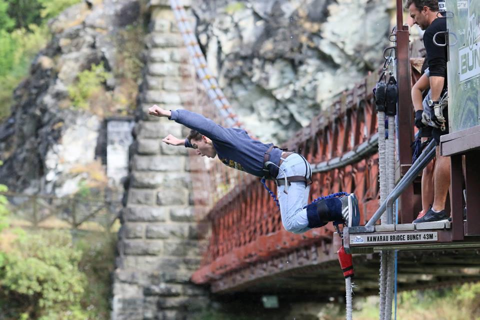 Seeker bungee jumping in New Zealand :: Conquering Trip 2014