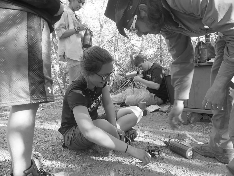 Seekers preparing dinner in Big Bend :: Awakening Trip 2016