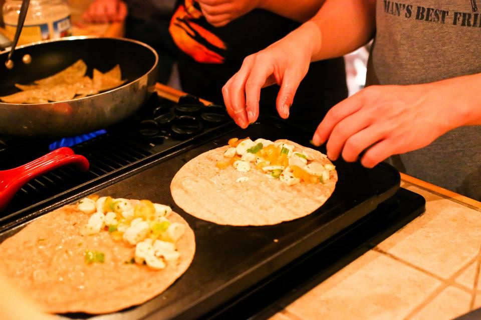 Seekers preparing a meal :: Forging Trip 2013