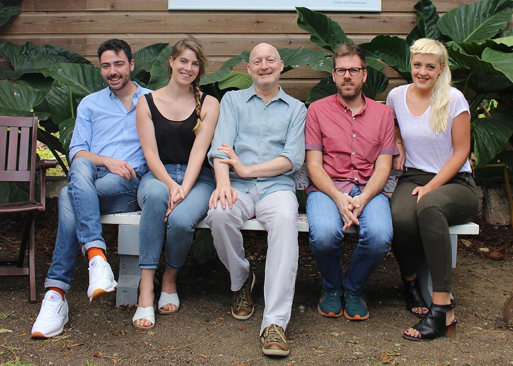 British Council Grantees (L-R) : Max Slaven and Ellie Royle (David Dale Gallery & Studios), David Codling (British Council), Remco de Blaaij (CCA Glasgow) and Jessica Carden (Mother Tongue)
