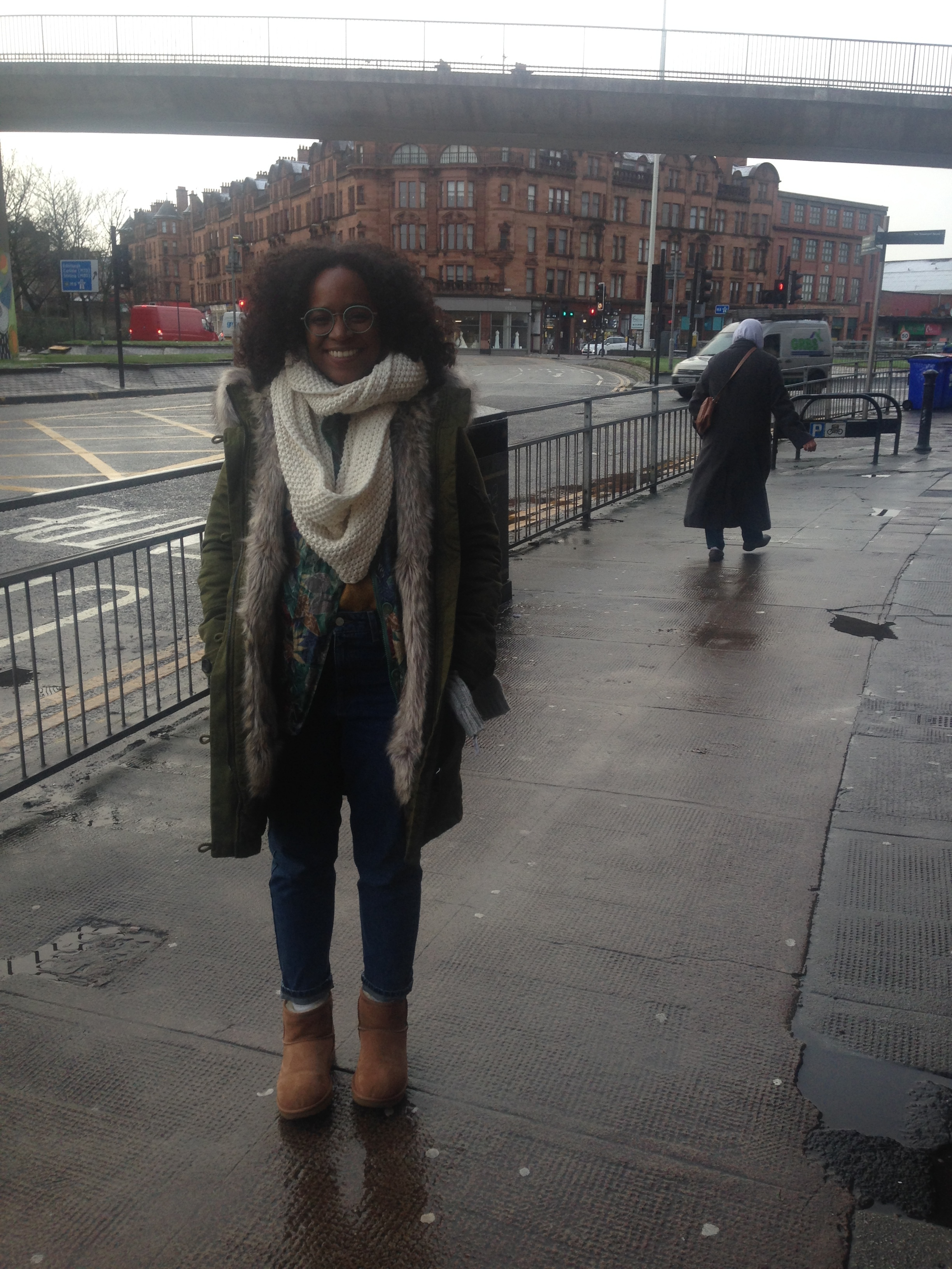 Me, all bundled up in Glasgow. ( Photo by: Nicole Smythe-Johnson )