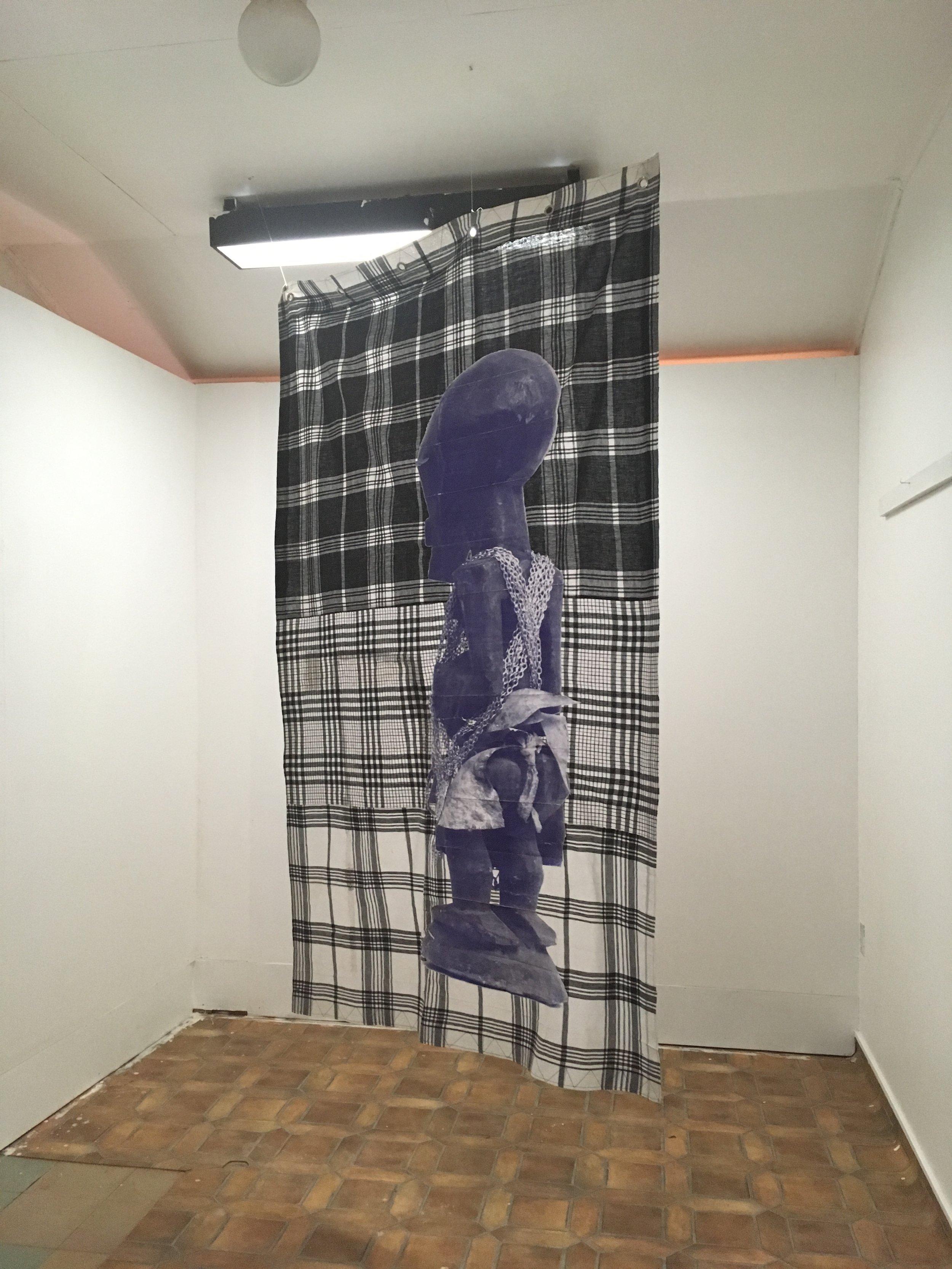 Inside CAMM:  Cottica  (2005-2010) a work by Netherlands-based Surinamese artist Remy Jungerman, referencing the Surinamese legend of the Bakru, a figure similar to Rumpelstilskin.