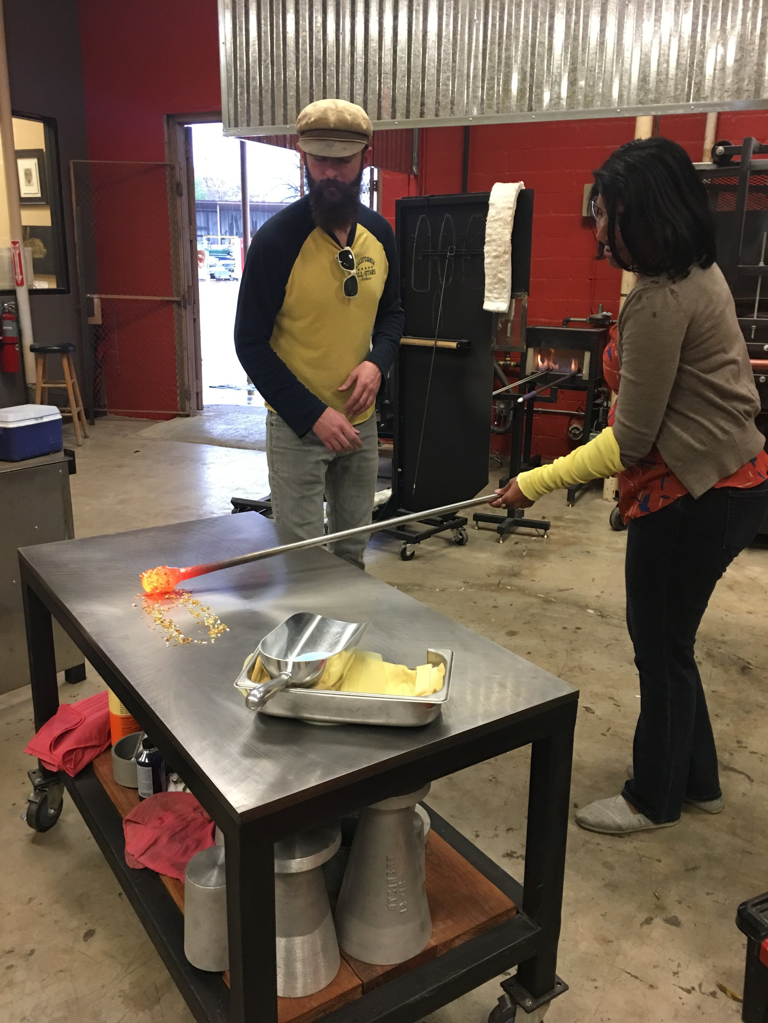 glassblowing experience learning to marver.JPG