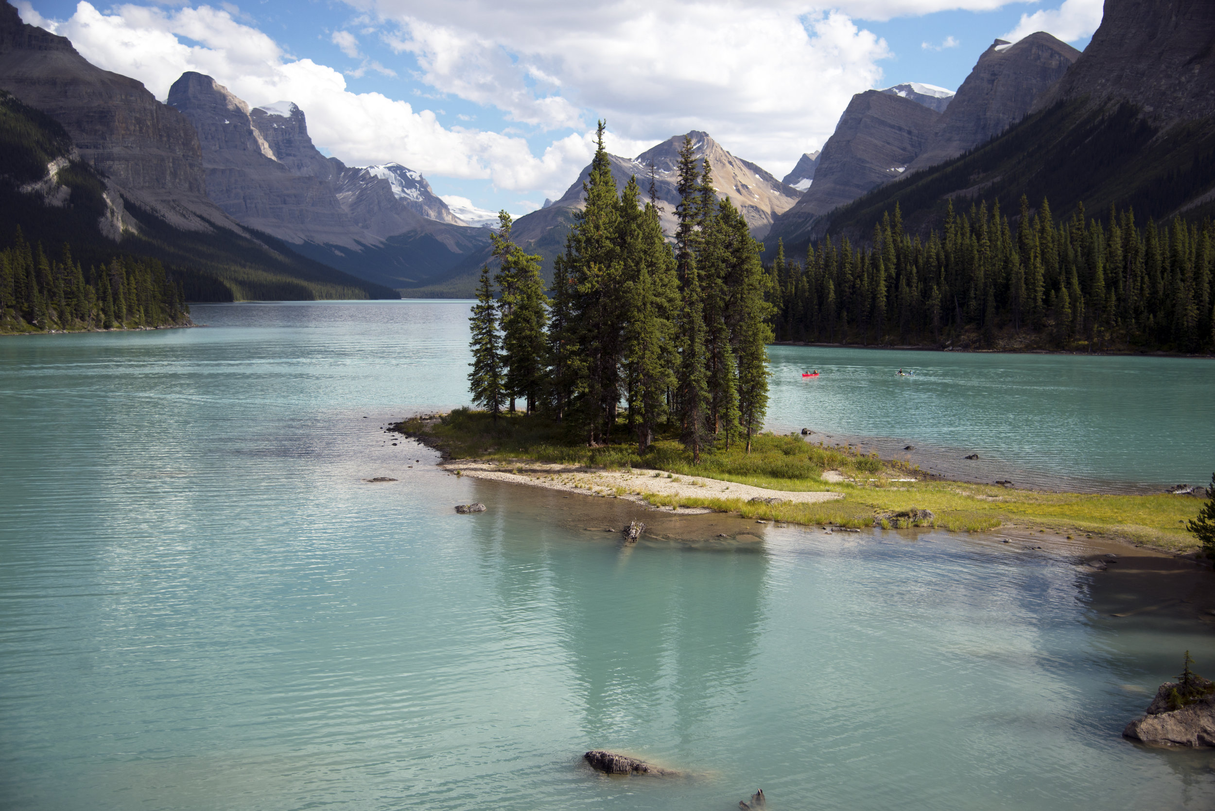 Light Spirit Island on Maligne Lake in Alberta.jpg