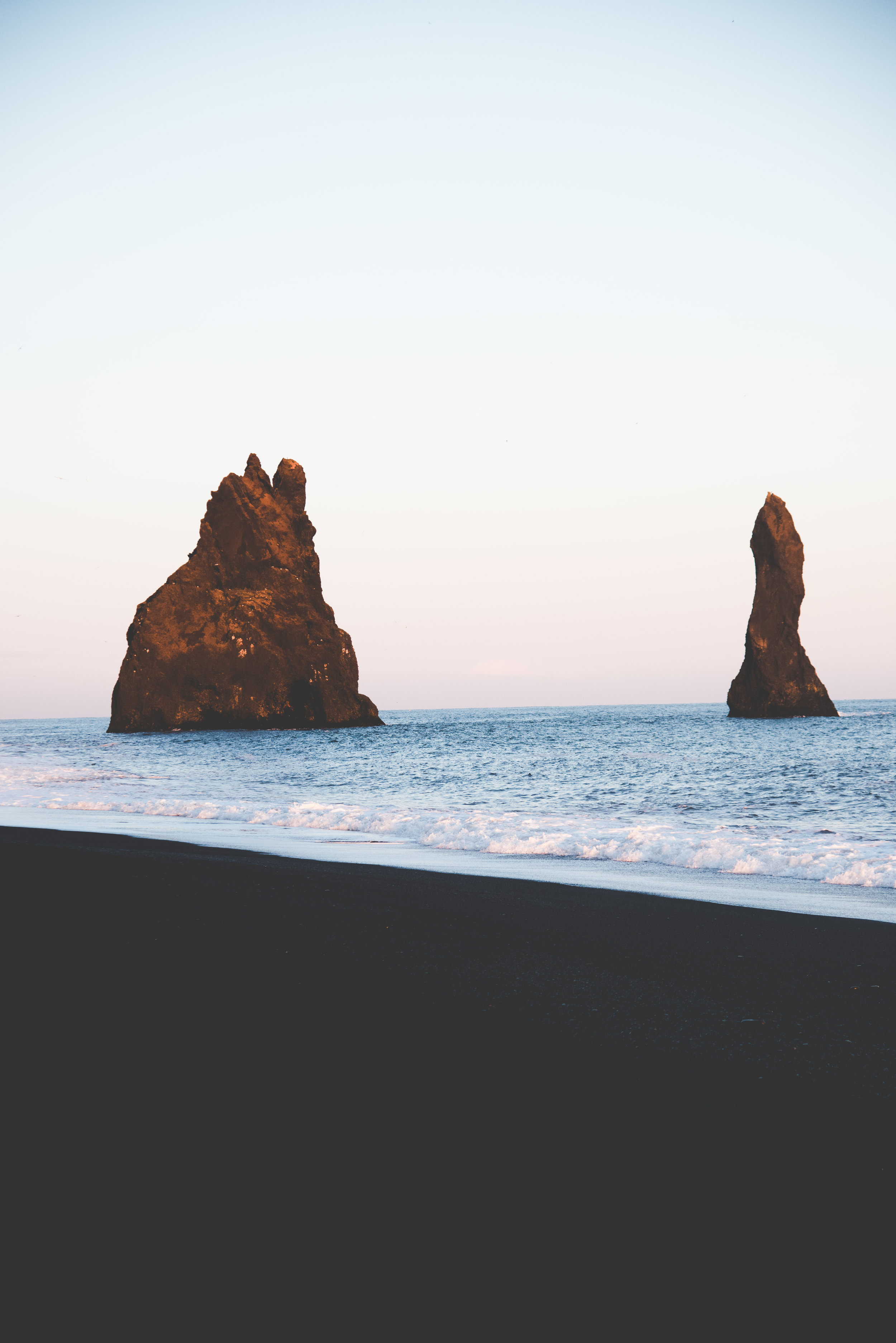 Calm at Vik Beach Near Sunset in Iceland.jpg