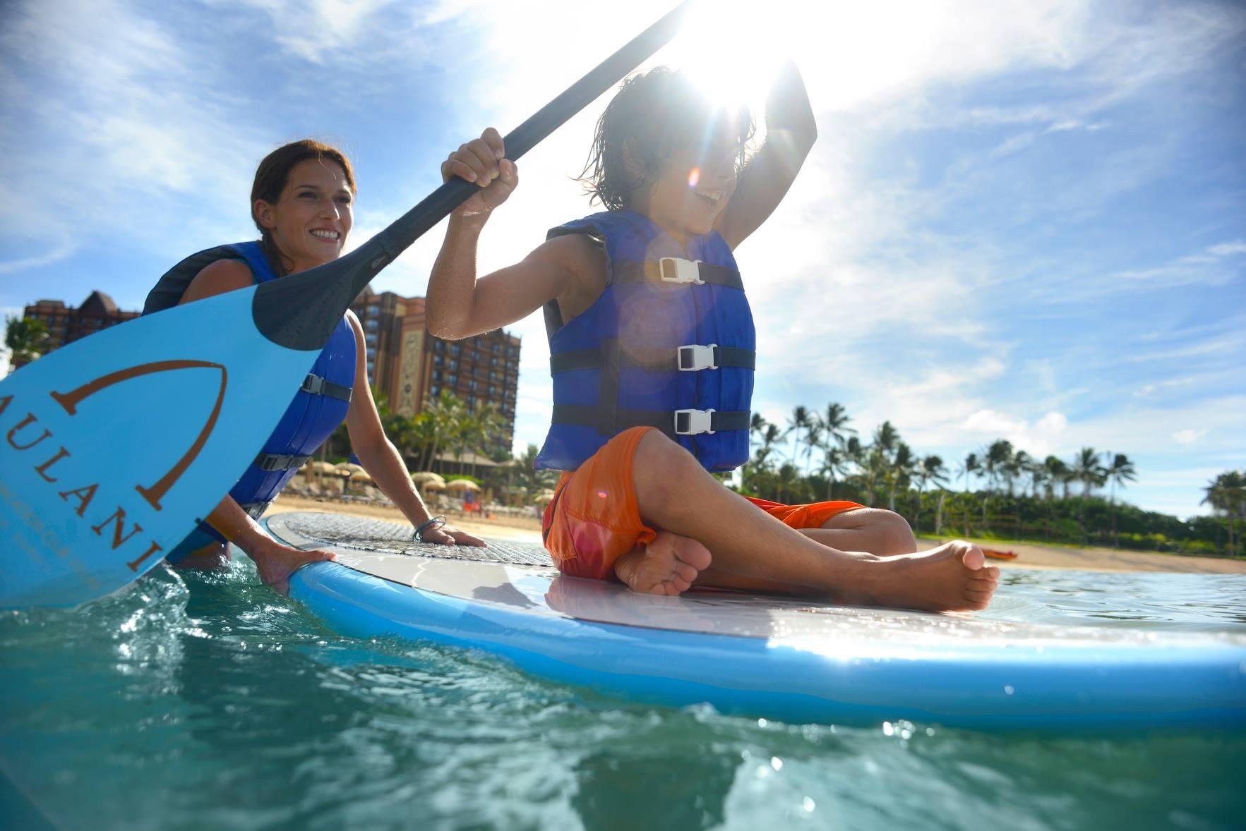 Paddleboarding at Aulani